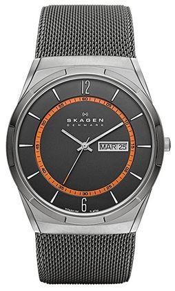 montre Skagen noire masculine SKW6001