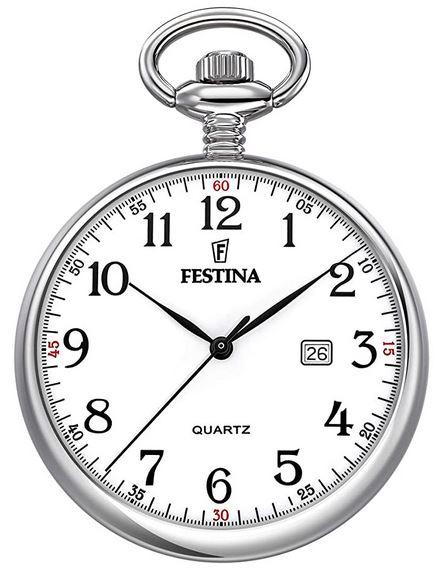 montre a gousset Festina F2019 1 cadran blanc pour homme