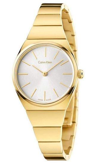 montre a quartz pour femme en acier inoxydable dore de la marque Calvin Klein