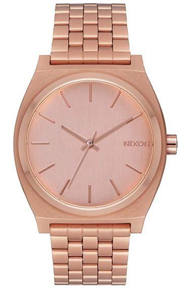 montre analogique feminine rose gold de la marque Nixon