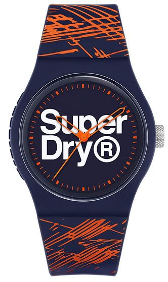 montre bleue et orange superdry 1