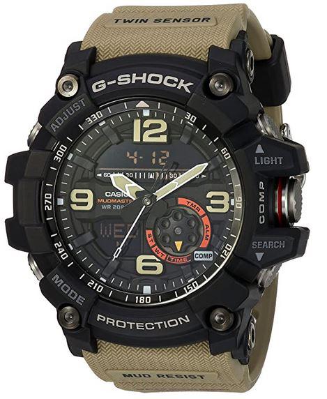 montre casio G Shock GG 1000 1A5 pour homme avec bracelet marron clair beige 1