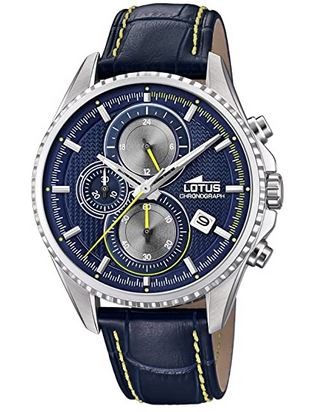 montre chronographe bleue pour homme de la marque Lotus
