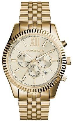 montre chronographe doree homme marque Michael Kors