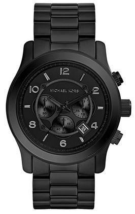 montre chronographe noire pour homme de Michael Kors