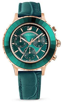 montre chronographe pour femme de couleur verte de la marque Swarovski