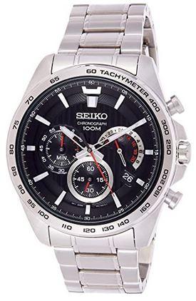 montre chronographe pour homme Seiko SSB299P1 en acier inoxidable