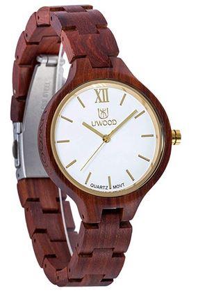 montre de bois pour femme de la marque Uwood