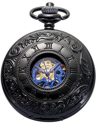 montre de poche pour homme ManchDa a mecanisme apparent