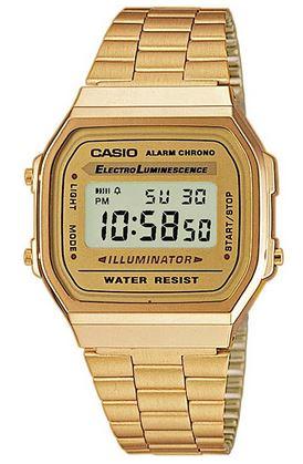 montre digitale Casio doree pour femme A168WG 9