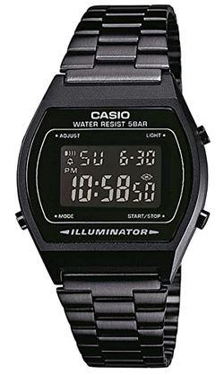 montre digitale Casio homme en acier inoxydable noir