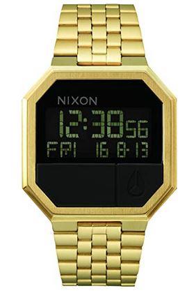montre digitale couleur or pour homme marque Nixon