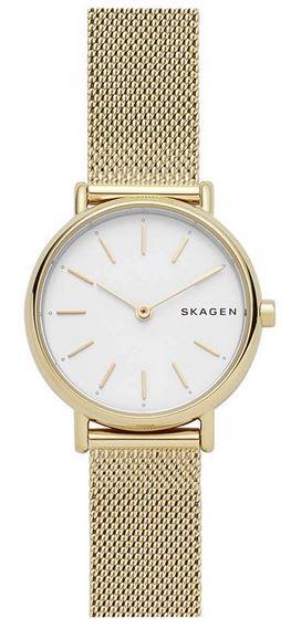 montre doree pour femme de Skagen pour femme modele SKW2693