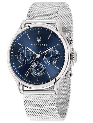 montre en argent pour homme collection Epoca de Maserati