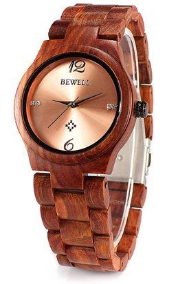 montre en bois feminine de la marque Bewel