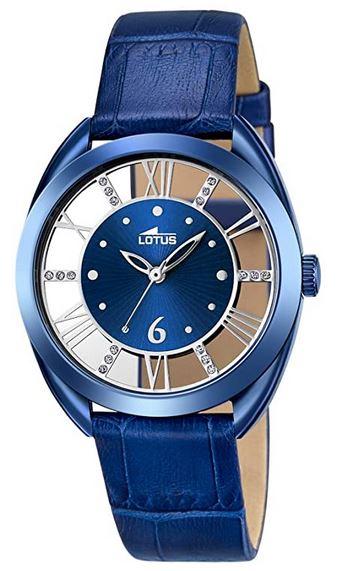 montre entierement bleue pour femme de la marque Lotus