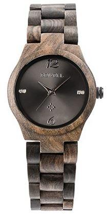 montre faite en bois fonce pour femme marque Alienwork