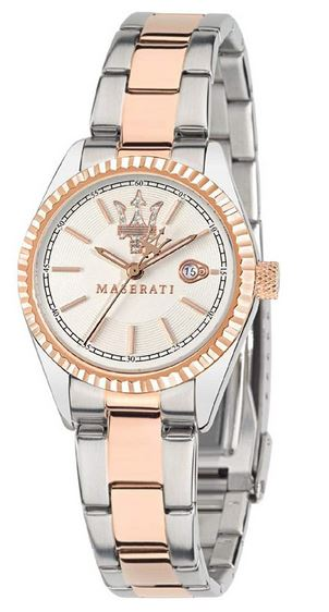 montre feminine Competizione de la marque Maserati couleur rose gold et argent