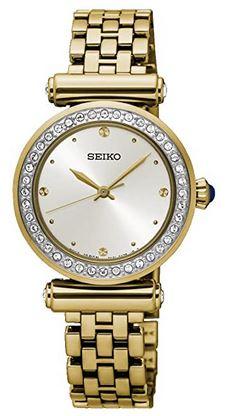 montre feminine doree de la marque Seiko