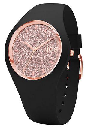 montre feminine marque Ice Watch modele Ice Glitter Black rose gold