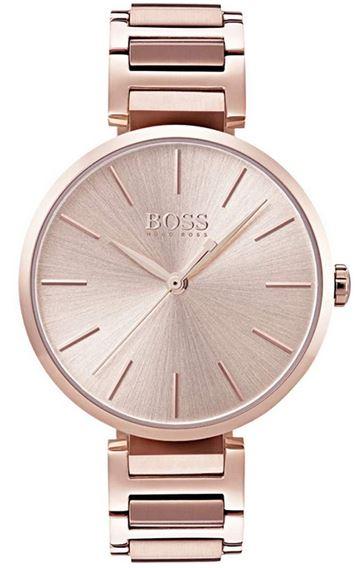 montre femme Hugo Boss rose gold a quartz