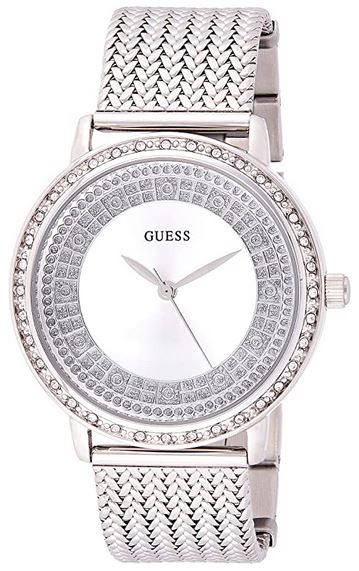 montre femme a mecanisme automatique de la marque Guess modele Ladies Willow argente
