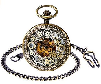 montre gousset antique marque Steampunk pour homme