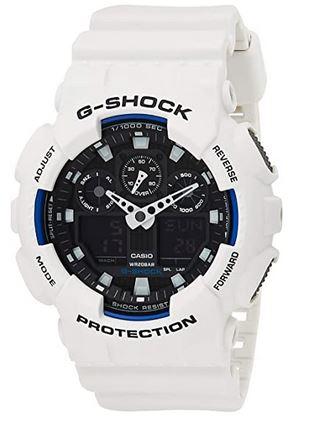 montre homme G Shock blanche de la marque Casio
