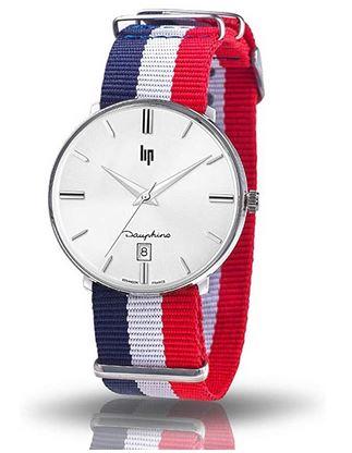 montre homme Lip himalaya avec bracelet tricolor
