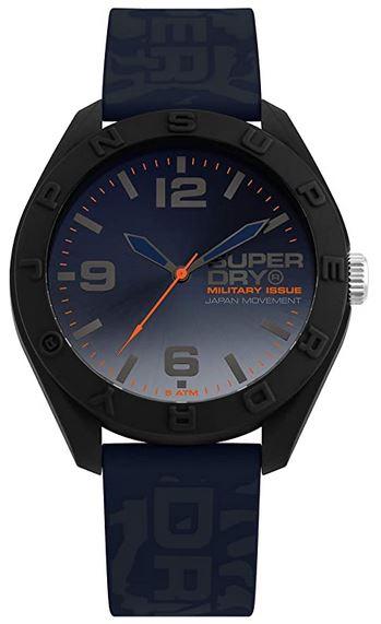 montre marque japonaise Superdry bleue nuit