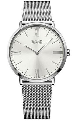 montre masculine classique marque Hugo Boss en argent modele 1513459