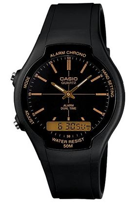 montre masculine entierement noire de la marque Casio