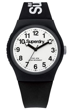 montre mixte superdry noire et blanche collection Urban