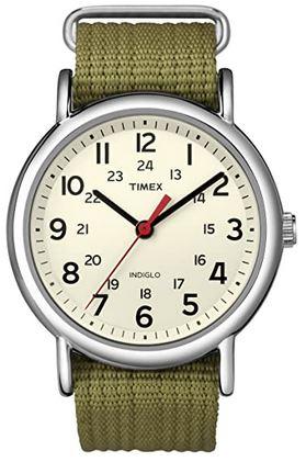 montre mixte timex avec bracelet en tissu kaki