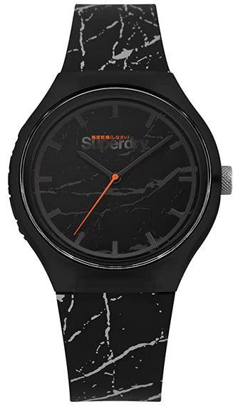montre noir marbre superdry pour homme