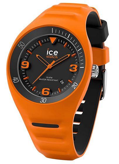 montre orange et noire pour homme de la marque Ice Watch