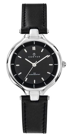 montre originale noire pour femme de la marque Certus