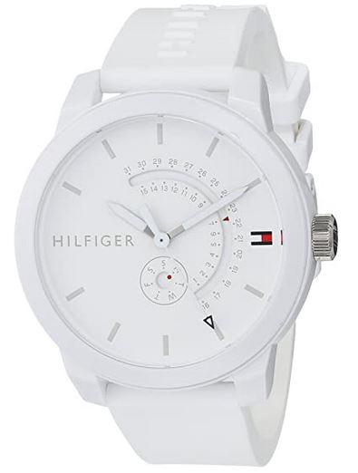 montre petit budget toute blanche de la marque Tommy Hilfiger
