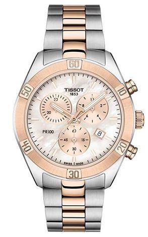 montre pour femme Tissot PR 100 modele chronographe T101.917.22.151.00