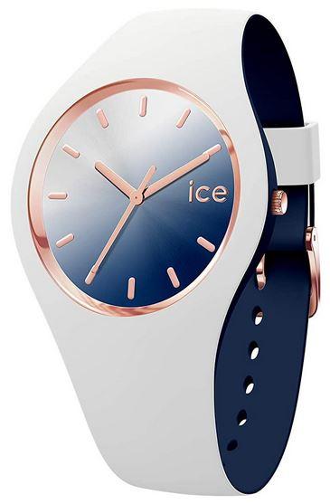 montre pour femme bleu blanche et rose gold de la marque Ice Watch Ice Duo Chic White marine