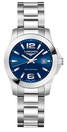 montre pour femme de la marque Longines modele L33764966 avec cadran bleu