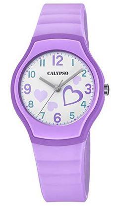 montre pour femme et fille de couleur violette de la marque Calypso