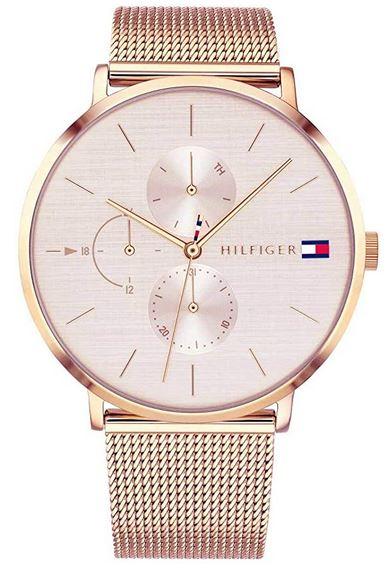 montre pour femme multi cadrans entierement rose gold de la marque Tommy Hilfiger