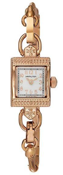 montre pour femme originale avec cadran rectangulaire de la marque Hamilton