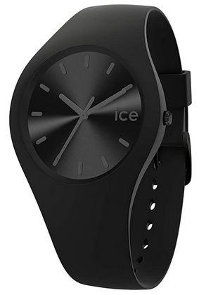 montre pour homme Ice Watch toute noire avec bracelet en silicone modele Phantom