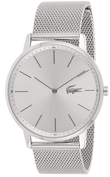 montre pour homme Lacoste modele 2011017 en acier inoxydable et bracelet de mailles fines