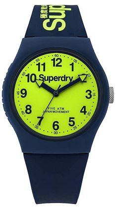montre pour homme bleue et jaune superdry SYG164UN