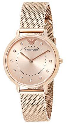 montre rose gold pour femme de la marque Emporio Armani modele AR11129
