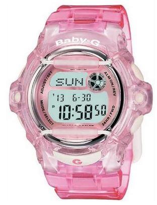 montre rose pour fille de la marque Casio modele Baby G BG 169R