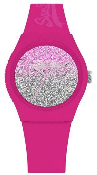montre rose superdry pour femme